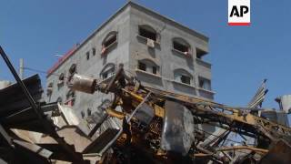 Raw: Israel Strikes Gaza After Rocket Attack