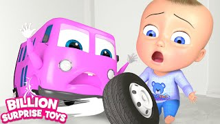 Johny Johny Yes Papa Song - WHEELS ON THE BUS Family Version - 3D Kids Songs for children