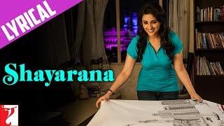 Lyrical: Shayarana Song with Lyrics | Daawat-e-Ishq | Aditya Roy Kapur | Parineeti | Kausar Munir