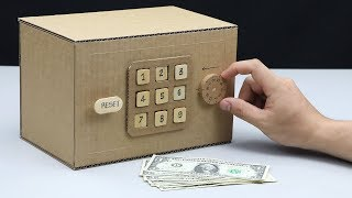 Build a Safe with Combination Number Lock and Digit from Cardboard