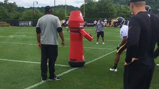 Steelers WRs drill at OTAs