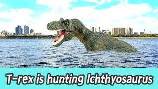 [EN] #74 T-rex is hunting lchthyosaurus, kids education, Collecta figureㅣCoCosToy