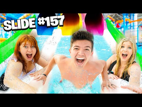 Riding EVERY Slide in a WATER PARK for 1 000 Challenge