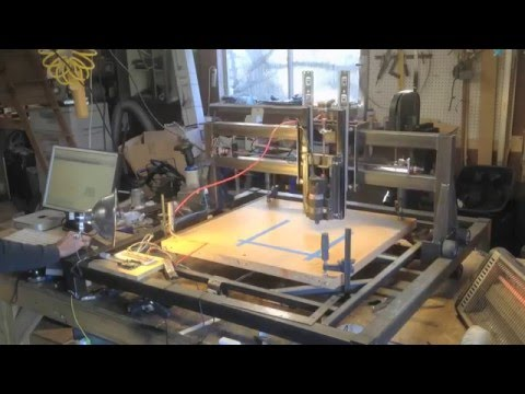 How to DIY Arduino CNC Router Cutter Welder Part 5 Router GRBL Settings and EASEL Tutorial