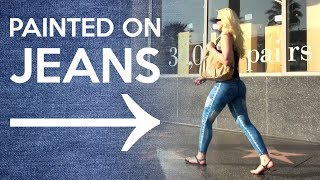 GIRL WALKS AROUND L.A. WITH NO PANTS