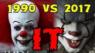 IT TRAILER 2017 VS 1990 COMPARISON PENNYWISE OF BILL SKARGARD VS TIM CURRY WHO IS BETTER?