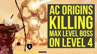 Assassin's Creed Origins Trial of the Gods ON LEVEL 4  - HOW TO DO IT (AC Origins Trial of the Gods)