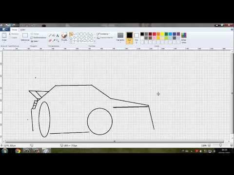desenhando carro simples no paint