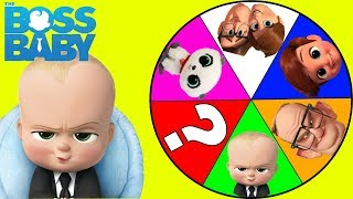 Boss Baby Spin the Wheel Game PJ Masks Romeo and PawPatrol Surprise Toy