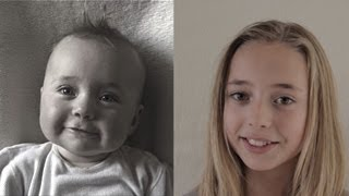 Birth to 12 years in 2 min. 45 sec. Time Lapse Lotte. (The Original)