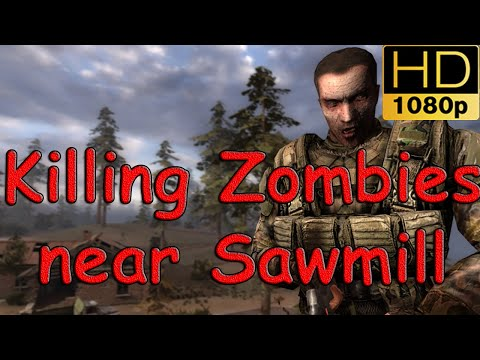 STALKER Call of Pripyat Misery Mod 2.1 Zombie Hunting in the Rain near the Sawmill HD1080p