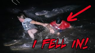 I FELL IN THE ALLIGATOR POND AT GATORLAND Orlando FL