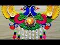 peacock rangoli for Diwali/Deepawali/gudipadava FESTIVAL'S