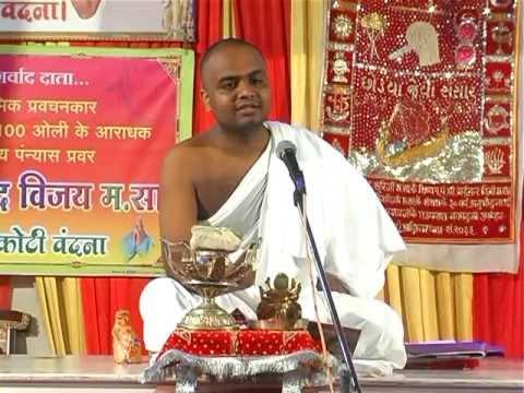 Paryushan Mahaparva Pravachan(1st Day) Of Muni Bhagyachandra Vijay At Nemaniwadi