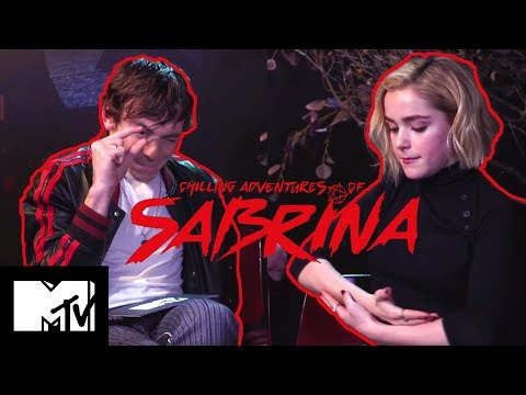 The Chilling Adventures Of Sabrina Cast Play Teen TV Show Charades & Talk Riverdale MTV Movies