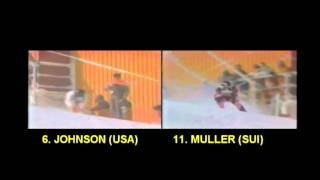 DOWNHILL COMPARE 1984 Johnson vs Müller