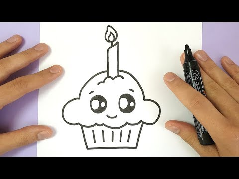 Xxx Mp4 HOW TO DRAW A CUTE BIRTHDAY CUPCAKE EASY 3gp Sex