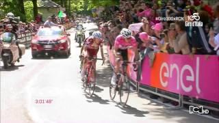 Nairo Quintana se distrae y pierde etapa 14 Giro de Italia 2017 HD