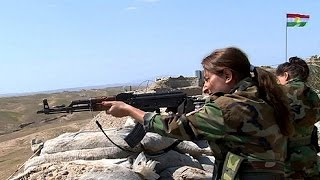 The Kurdish Peshmerga women soldiers who are fighting on the frontline