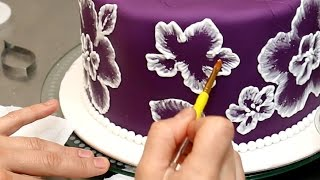 Royal Icing Recipe for Brush Embroidery Cake - Decorando con GLASA REAL by CakesStepbyStep