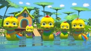 Five Little Ducks | Childrens Kindergarten Nursery Rhyme Song | Cartoon for Kids by Little Treehouse