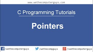 C Programming Language Tutorial -Lect  21 Pointers