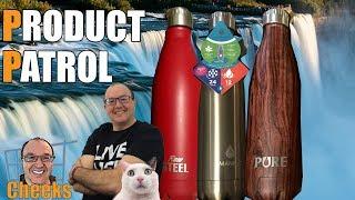 Stainless Steel Water Bottle Comparison: Manna, Pure, Raw Steel