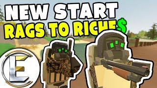 NEW START! - Unturned Roleplay Rags to Riches #71 (Finding EPIC Loot At The DeadZone)