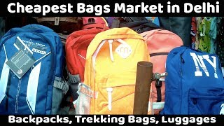 VikVlogs #14💼 | Biggest Men's, Women's and Kids Bags Market | Backpack's, Luggage Wholesale Market|