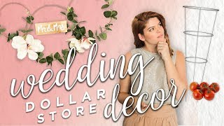 DOLLAR STORE WEDDING DECOR (friggin