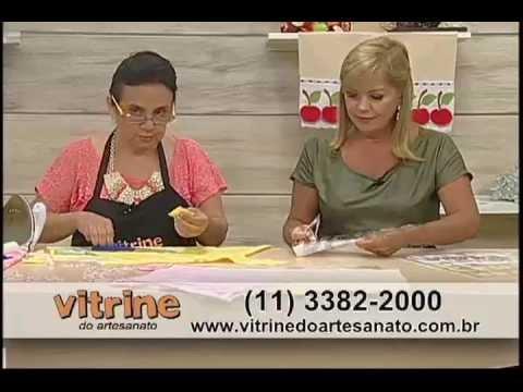 Barrado de Panos de Copa com Deize Costa Vitrine do Artesanato na TV