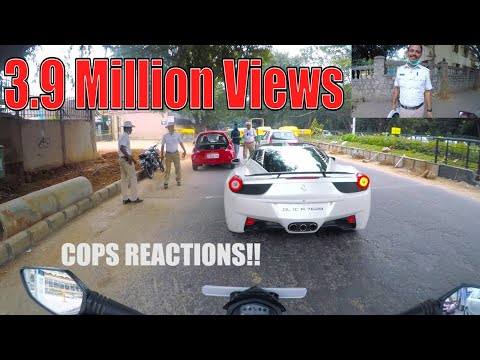 Xxx Mp4 COPS Reaction Seeing A Ferrari In BANGALORE INDIA 26 3gp Sex