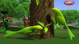 Lazy Parrots   পশু গল্প   3D Moral Stories For Kids in Bengali   Animal Stories in Bengali