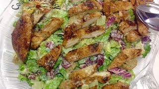 Homemade Caesar Salad with Chicken