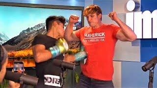 Ryan Garcia Punches Logan Paul Hard During Podcast