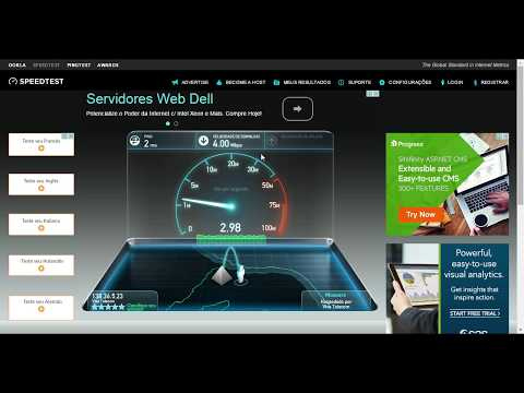 Teste Velocidade Internet 4 MB Via Radio