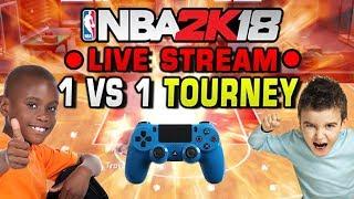 NBA 2K18 LIVE 1 vs 1 Tournament!
