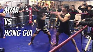 Big Kung Fu Fighter Vs Small MMA Fighter - Khai Tran Vs Nam Phan