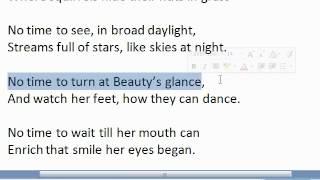 BA English Poem 1 Leisure - Urdu Version