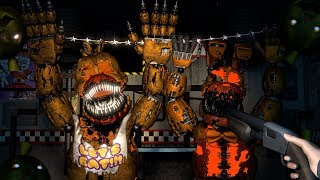 [FNAF SFM] HALLOWEEN FNAF 6 Ultimate Custom Night | Cheating & Counter Jumpscares All Animatronics