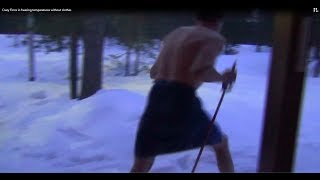Crazy Finns in freezing temperatures without clothes