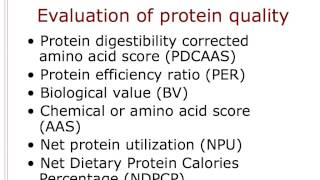 Protein 3 - Evaluating Protein Quality (continuation from Protein 2 - Digestion and Absorption)