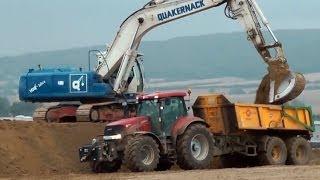 BAUSTELLEN Arbeiten /Fendt/ Claas/ Massey Ferguson/ John Deere Traktoren / Tractors / Caterpillar
