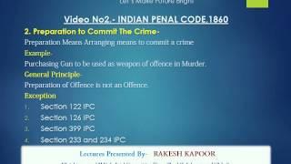 Indian Penal Code -Video 1