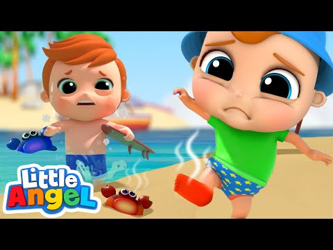 Hot and Cold On The Beach Opposites Song Little Angel Kids Songs