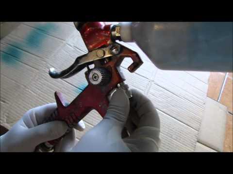 Saura Pistola de Pintura montagem desmontagem limpeza e regulagens