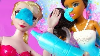Disney Frozen Queen Elsa Barbie Fairy FROSTING FOOD FIGHT Doll Play Part 2 Playdoh
