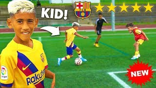 I Challenged 9 YEAR OLD KID MESSI's Football Team To A CRAZY Football Competition
