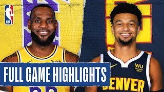 LAKERS at NUGGETS | FULL GAME HIGHLIGHTS | February 12, 2020