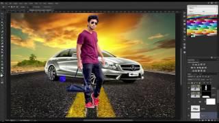 Photoshop Tutorial | Photo Manipulation Change Background & Blending TJ